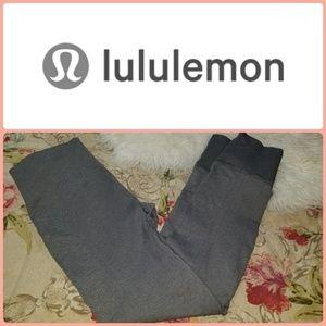 LULULEMON HIGH RISE TEXTURED LEGGINGS